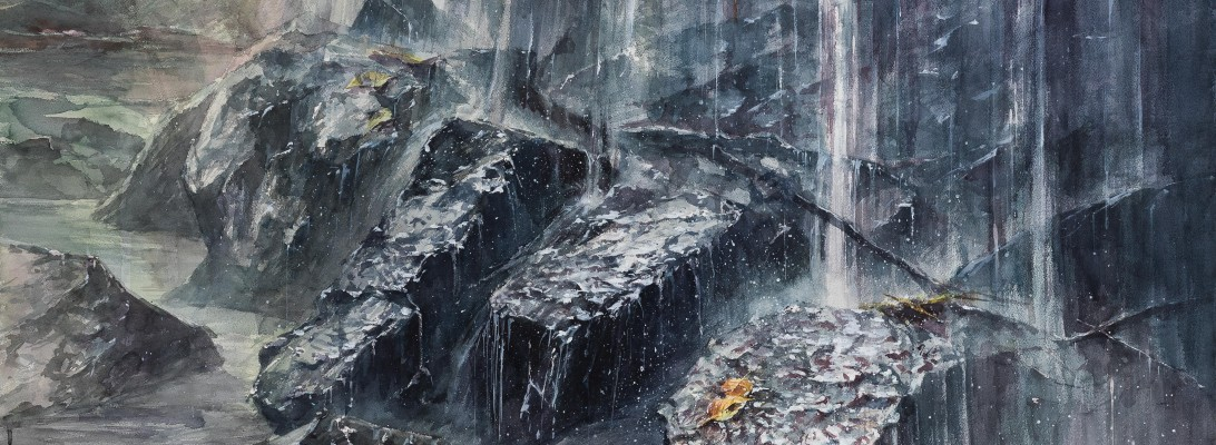 柴田修 水彩 80号 宮城県芸術祭絵画展 入選作-5186